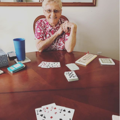 Cards with Grandma.