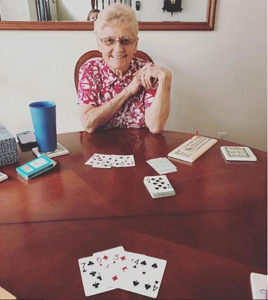 Cards with Grandma.