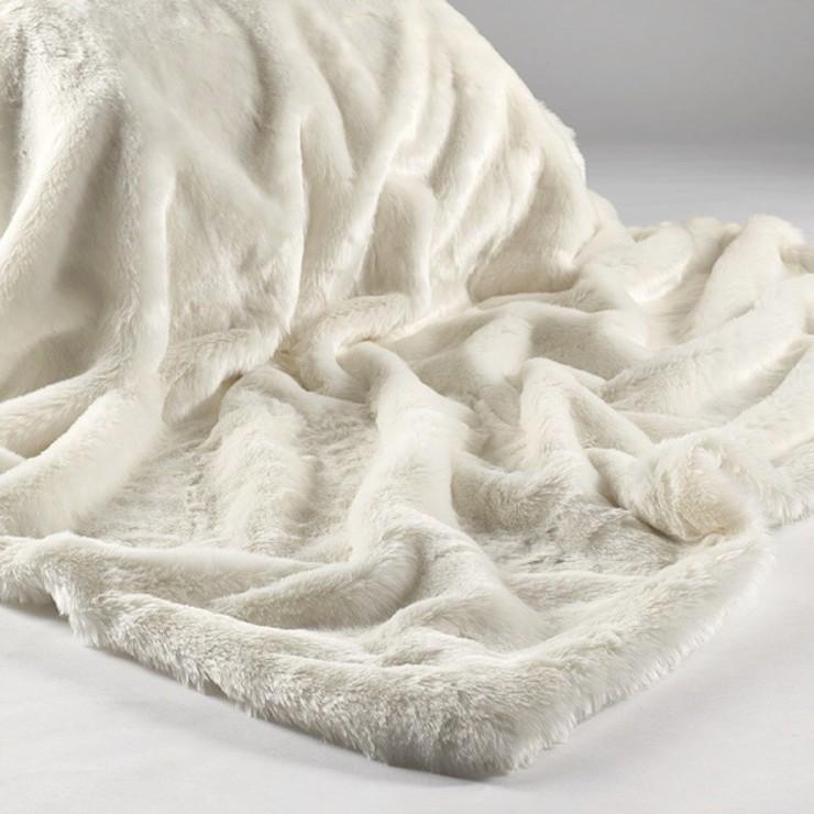 soft white throw blanket