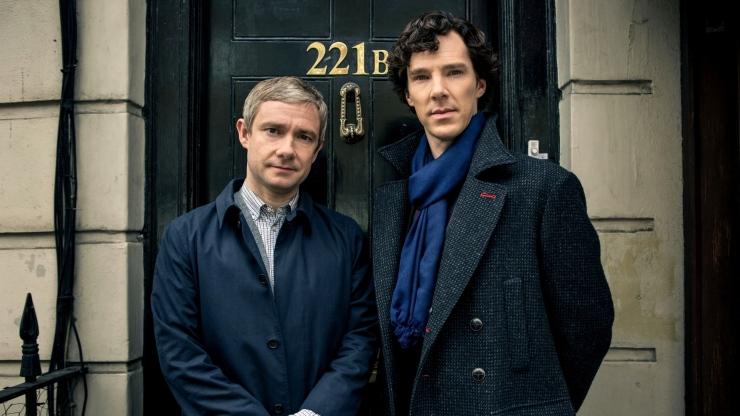 Sherlock Holmes 221b door