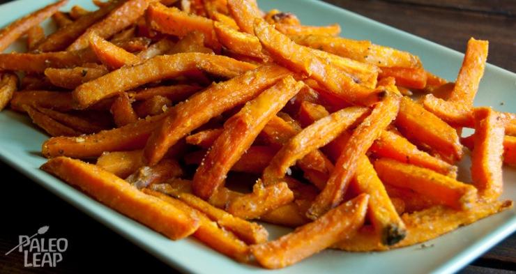 Dish of sweet potato fries