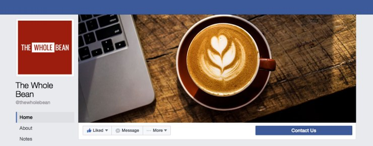The Whole Bean Facebook Profile