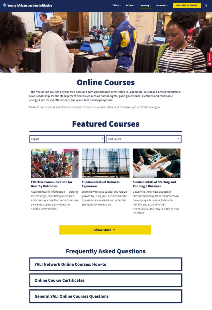 YALI Online Courses